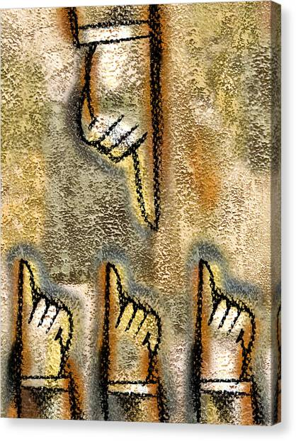 Accused Canvas Print - Conflict by Leon Zernitsky
