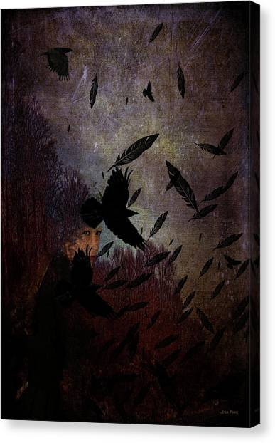 Conflict Of The Crows Canvas Print