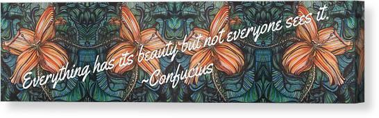Confucius Beauty  Canvas Print