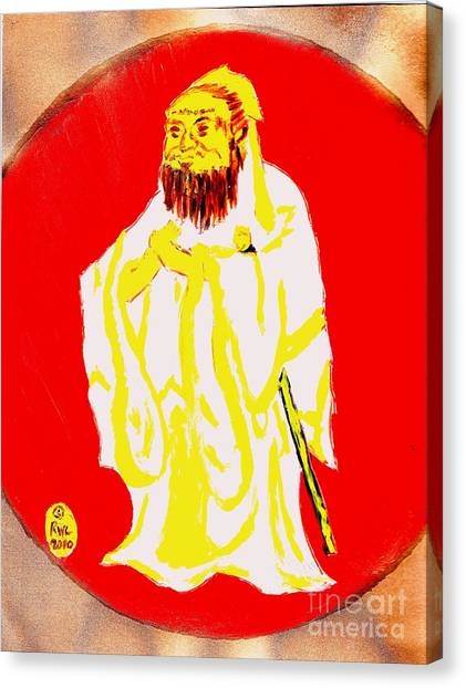 Confucius Wisdom Bright Red Canvas Print