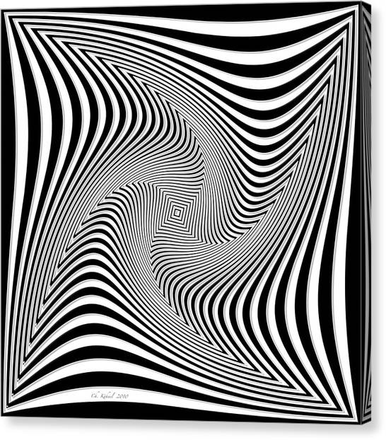 Confusion In Black And White Canvas Print by Christine Kuehnel