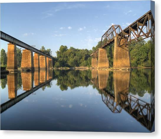 Congaree River Rr Trestles - 1 Canvas Print