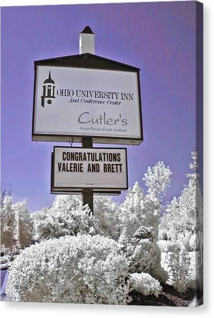 Ohio University Canvas Print - Congratulations Valerie And Brett by Bob LaForce
