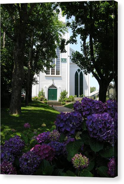 Congregational Church Nantucket Canvas Print