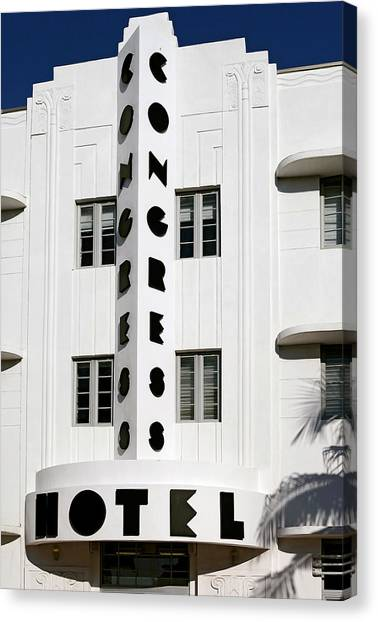 Congress Hotel. Miami. Fl. Usa Canvas Print