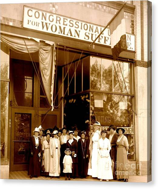 Congressional Union For Woman Suffrage Colorado Headquarters 1914 Canvas Print