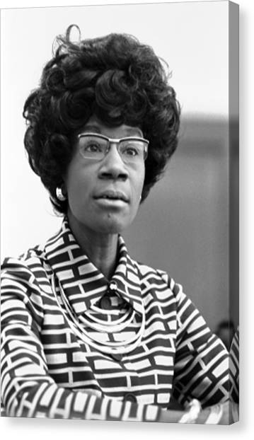Congresswoman Shirley Chisholm Canvas Print by Everett
