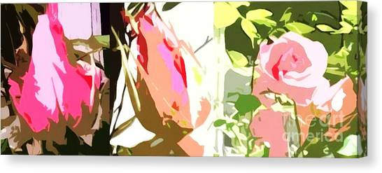 Pink Camo Canvas Print - Connected Ladies Camo by Catherine Lott