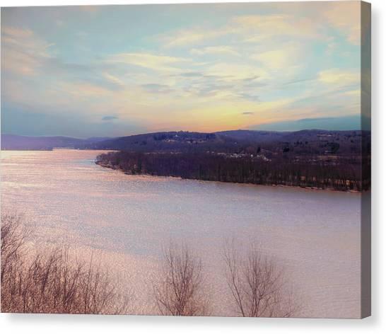 Connecticut River View From Gillette Castle. Canvas Print