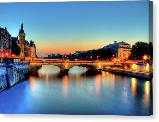 Rivers Canvas Print - Connecting Bridge by Romain Villa Photographe