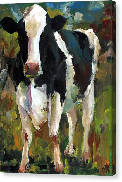 Connie The Cow Canvas Print by Cari Humphry