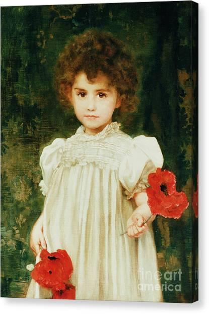 Victorian Garden Canvas Print - Connie by William Clark Wontner
