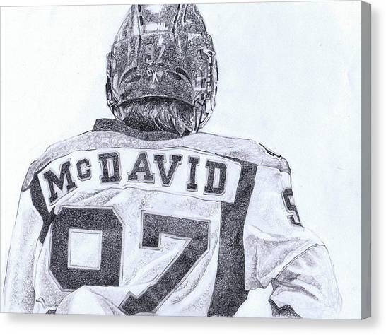 Edmonton Oilers Canvas Print - Connor Mcdavid by Paul Smutylo