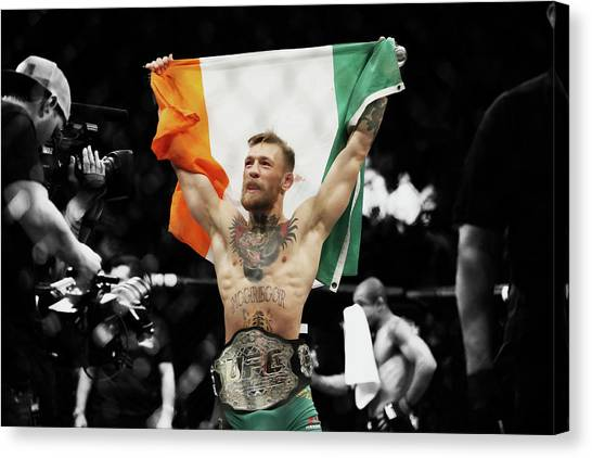 Anthony Martial Canvas Print - Conor Mcgregor 2b by Brian Reaves