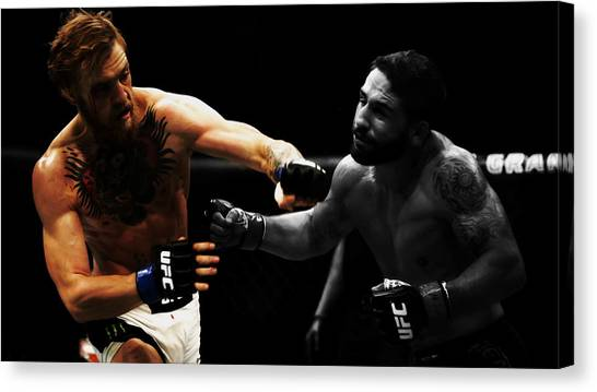 Anthony Martial Canvas Print - Conor Mcgregor And Chad Mendes by Brian Reaves