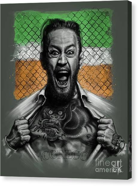 Mma Canvas Print - Conor Mcgregor by Andre Koekemoer