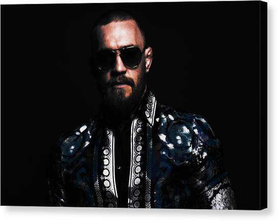 Anthony Martial Canvas Print - Conor Mcgregor On Point by Brian Reaves