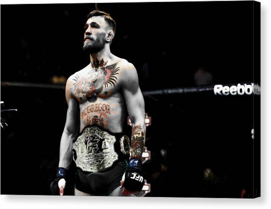 Anthony Martial Canvas Print - Conor Mcgregor Standing Tall by Brian Reaves