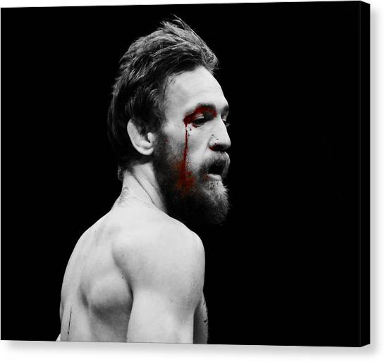 Anthony Martial Canvas Print - Conor Mcgregor Taste Of Blood by Brian Reaves