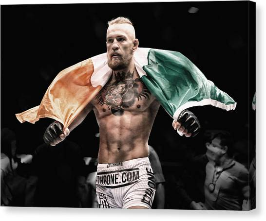 Anthony Martial Canvas Print - Conor Mcgregor The Man by Brian Reaves