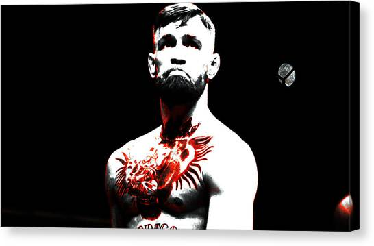 Anthony Martial Canvas Print - Conor Mcgregor The Ultimate Warrior by Brian Reaves
