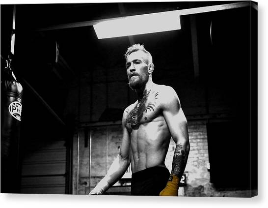 Anthony Martial Canvas Print - Conor Mcgregor Unyielding Training by Brian Reaves