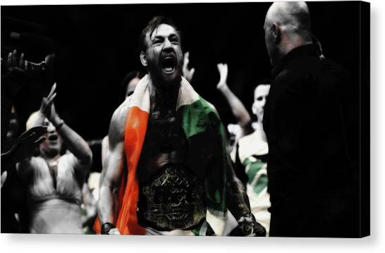 Floyd Mayweather Canvas Print - Conor Mcgregor Victory Roar by Brian Reaves