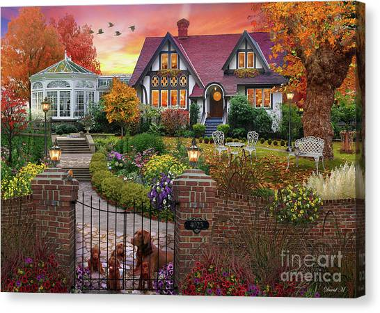Bricks Canvas Print - Conservatory House  by MGL Meiklejohn Graphics Licensing