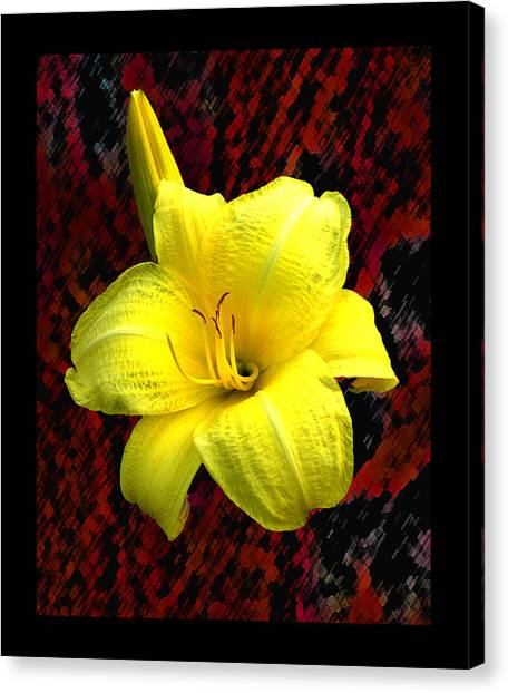 Consider The Lily Canvas Print by EGiclee Digital Prints