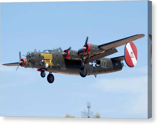 Consolidated B-24j Liberator N224j Witchcraft Deer Valley Airport Arizona April 20 2011  Canvas Print