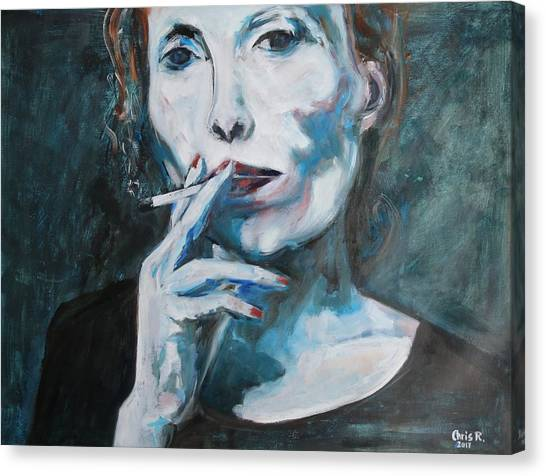 Joni Mitchell Canvas Print - Constant In The Darkness by Christel Roelandt