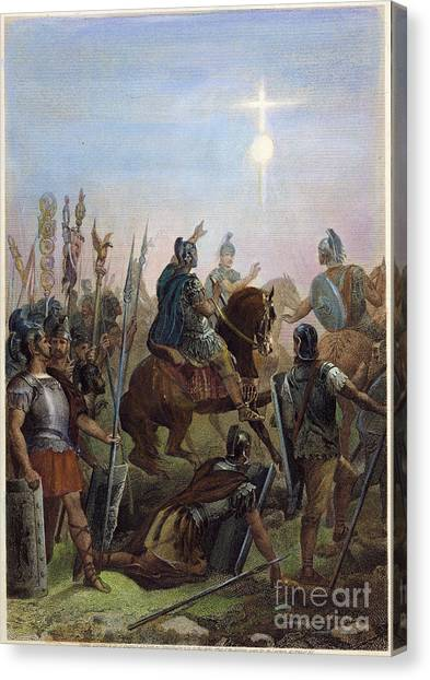 Early Christian Art Canvas Print - Constantine Conversion by Granger