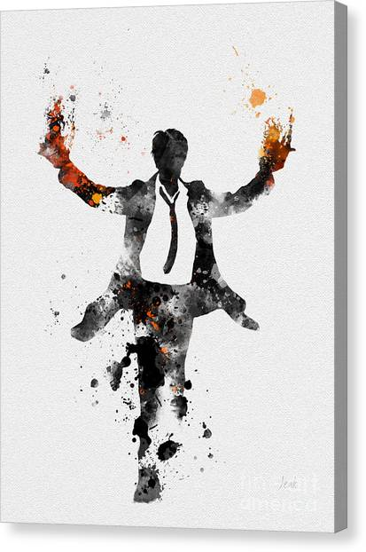 Keanu Reeves Canvas Print - Constantine by Rebecca Jenkins