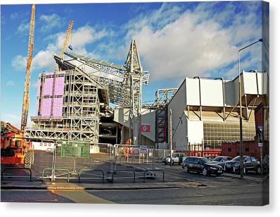 British Premier League Canvas Print - Construction Of A New Stand, Part by Ken Biggs