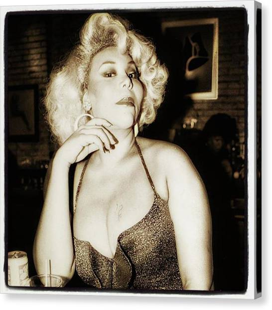 Canvas Print featuring the photograph Consuela Del Rio. Drag Mother At The by Mr Photojimsf