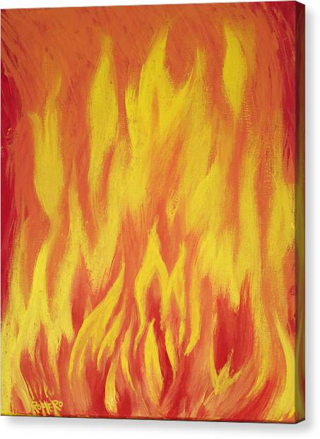Canvas Print featuring the painting Consuming Fire by Antonio Romero