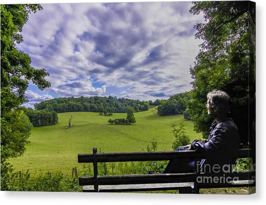 Contemplating The Beautiful Scenery Canvas Print