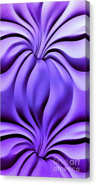 Contemplation In Purple Canvas Print