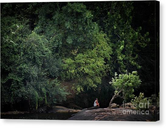 Lonliness Canvas Print - Contemplation by Skip Willits