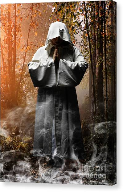 Witches Canvas Print - Contemplation by Smart Aviation