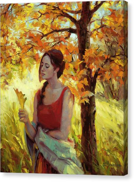 Innocent Canvas Print - Contemplation by Steve Henderson