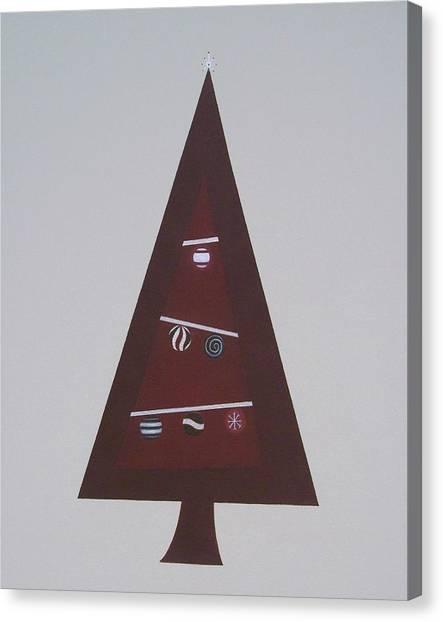 Contemporary Christmas Tree Canvas Print by Sandy Bostelman