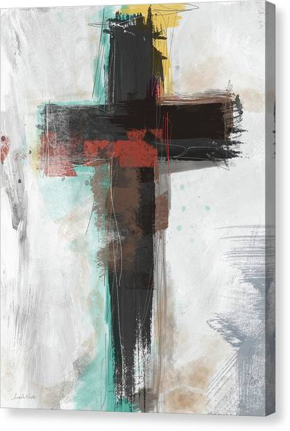 Religious Canvas Print - Contemporary Cross 1- Art By Linda Woods by Linda Woods