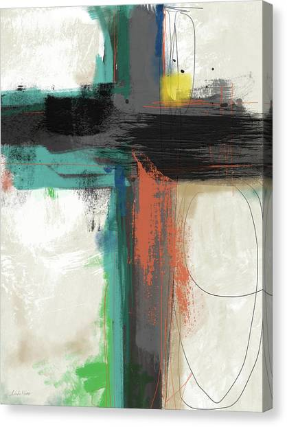 Religious Canvas Print - Contemporary Cross 2- Art By Linda Woods by Linda Woods