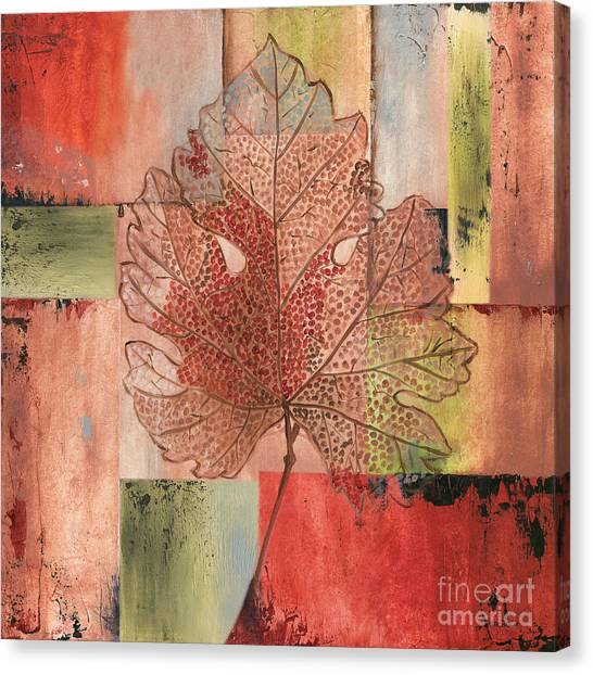 Thanksgiving Canvas Print - Contemporary Grape Leaf by Debbie DeWitt