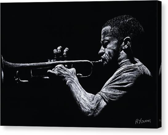 Gent Canvas Print - Contemporary Jazz Trumpeter by Richard Young