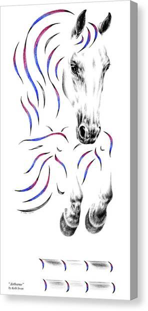 Contemporary Jumper Horse Canvas Print