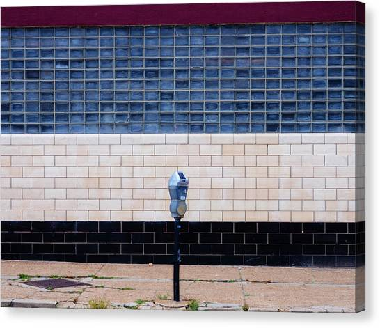 Contemporary Minimal Photography Print. Parking Meter. Canvas Print by Dylan Murphy
