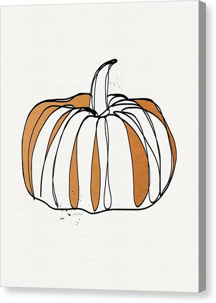 Pumpkins Canvas Print - Contemporary Pumpkin- Art By Linda Woods by Linda Woods
