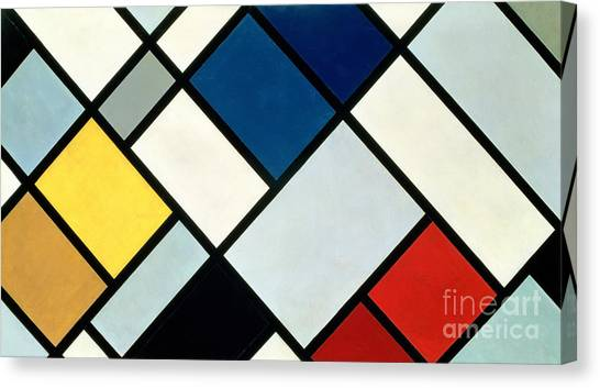 Futurism Canvas Print - Contracomposition Of Dissonances by Theo van Doesburg